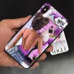 قاب طرح دار Girl مناسب برای گوشی های سامسونگ A20 و A30