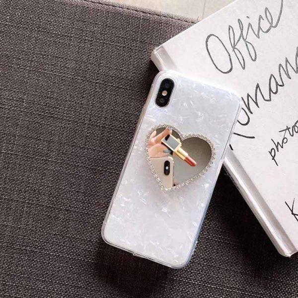 قاب ماربل طرح قلب ایینه ای مناسب برای گوشی های ایفون 6 و 6S