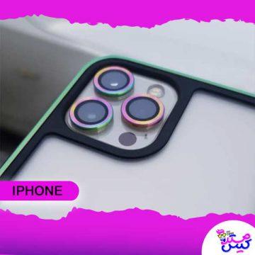 محافظ لنز دوربین هفت رنگ 12 Pro Max